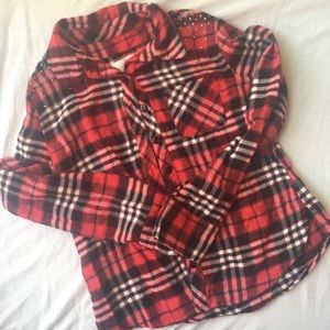 Justice size 7 flannel